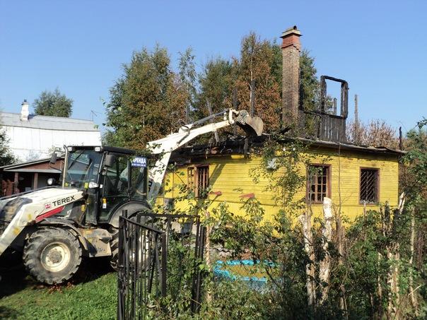 Монтаж дачного горелого дома